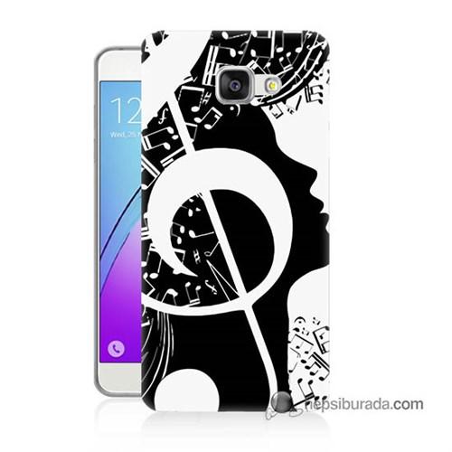 Teknomeg Samsung Galaxy A7 2016 Kapak Kılıf Notalar Baskılı Silikon