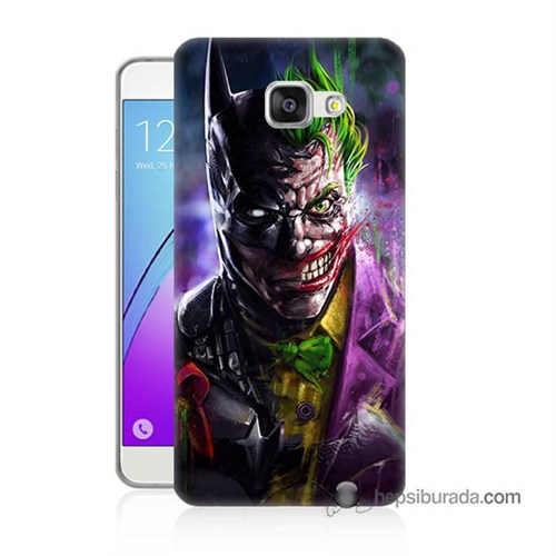 Teknomeg Samsung Galaxy A5 2016 Kılıf Kapak Batman Vs Joker Baskılı Silikon