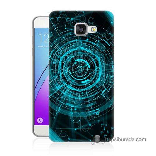 Teknomeg Samsung Galaxy A7 2016 Kapak Kılıf Asit Baskılı Silikon