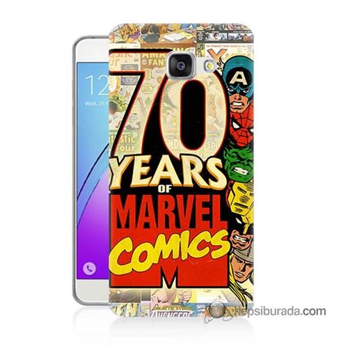 Teknomeg Samsung Galaxy A7 2016 Kılıf Kapak Marvel Karakterleri Baskılı Silikon