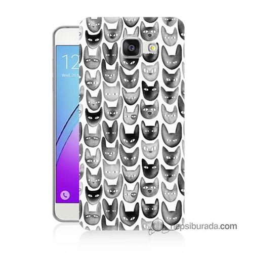 Teknomeg Samsung Galaxy A7 2016 Kapak Kılıf Kediler Baskılı Silikon