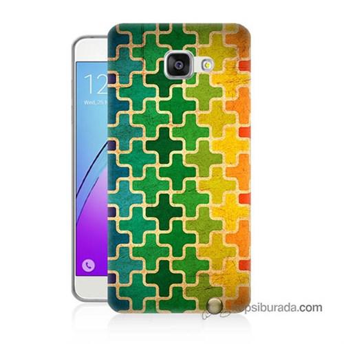 Teknomeg Samsung Galaxy A7 2016 Kapak Kılıf Renkli Artı Baskılı Silikon