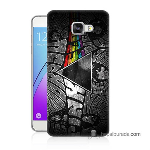 Teknomeg Samsung Galaxy A7 2016 Kapak Kılıf Pink Floyd Baskılı Silikon