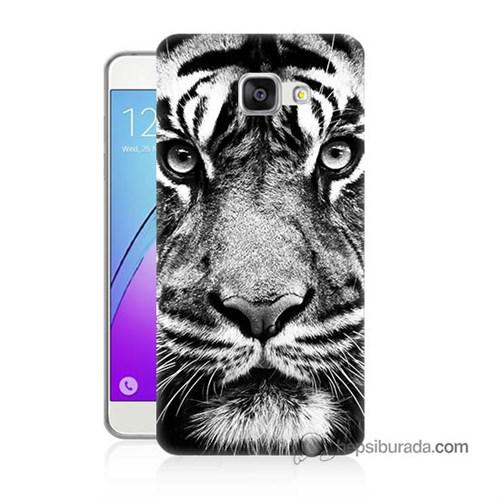 Teknomeg Samsung Galaxy A7 2016 Kapak Kılıf Kaplan Baskılı Silikon