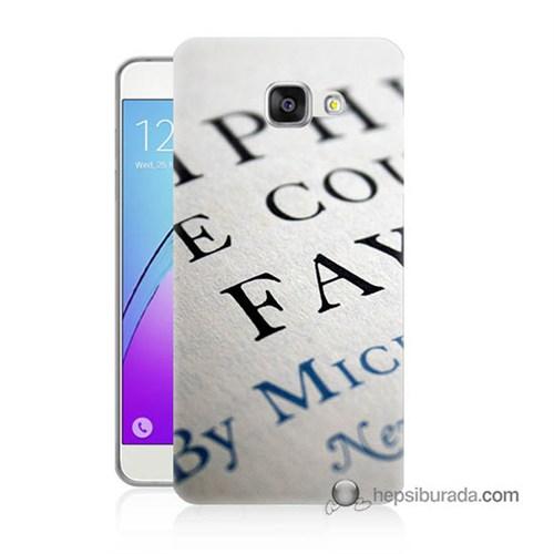 Teknomeg Samsung Galaxy A7 2016 Kapak Kılıf Yazılar Baskılı Silikon