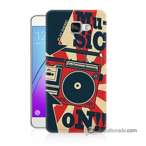 Teknomeg Samsung Galaxy A7 2016 Kapak Kılıf Müzik Baskılı Silikon