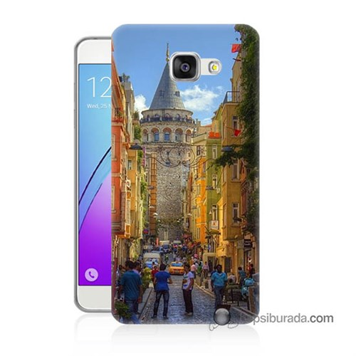 Teknomeg Samsung Galaxy A7 2016 Kapak Kılıf Galata Kulesi Baskılı Silikon