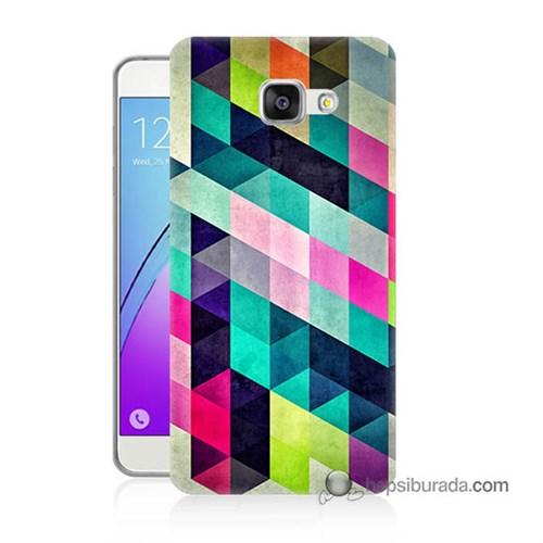 Teknomeg Samsung Galaxy A7 2016 Kılıf Kapak Mozaikler Baskılı Silikon