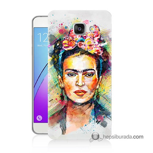 Teknomeg Samsung Galaxy A7 2016 Kapak Kılıf Frida Baskılı Silikon
