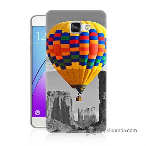 Teknomeg Samsung Galaxy A7 2016 Kılıf Kapak Renkli Uçan Balon Baskılı Silikon