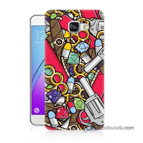 Teknomeg Samsung Galaxy A7 2016 Kılıf Kapak Cephane Baskılı Silikon