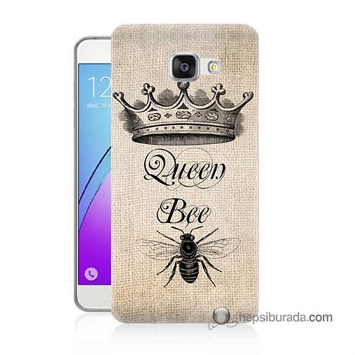 Teknomeg Samsung Galaxy A7 2016 Kılıf Kapak Queen Bee Baskılı Silikon