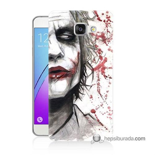 Teknomeg Samsung Galaxy A7 2016 Kapak Kılıf Kanlı Joker Baskılı Silikon