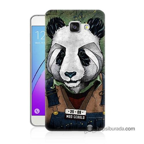 Teknomeg Samsung Galaxy A7 2016 Kapak Kılıf İşçi Panda Baskılı Silikon