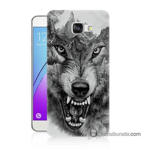 Teknomeg Samsung Galaxy A7 2016 Kapak Kılıf Kızgın Kurt Baskılı Silikon