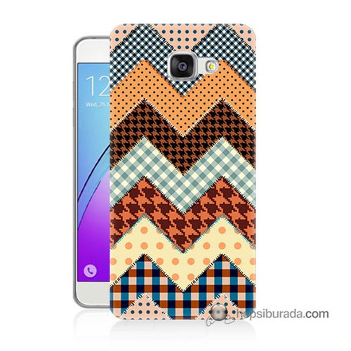 Teknomeg Samsung Galaxy A7 2016 Kapak Kılıf Patchwork Baskılı Silikon