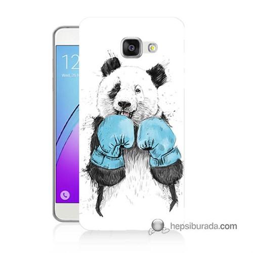 Teknomeg Samsung Galaxy A7 2016 Kılıf Kapak Boksör Panda Baskılı Silikon