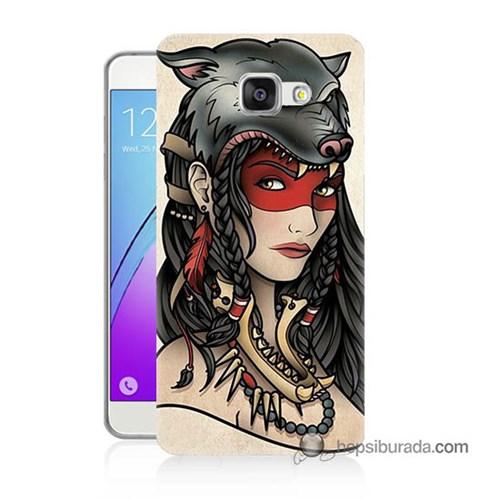 Teknomeg Samsung Galaxy A7 2016 Kapak Kılıf Pocahontas Baskılı Silikon