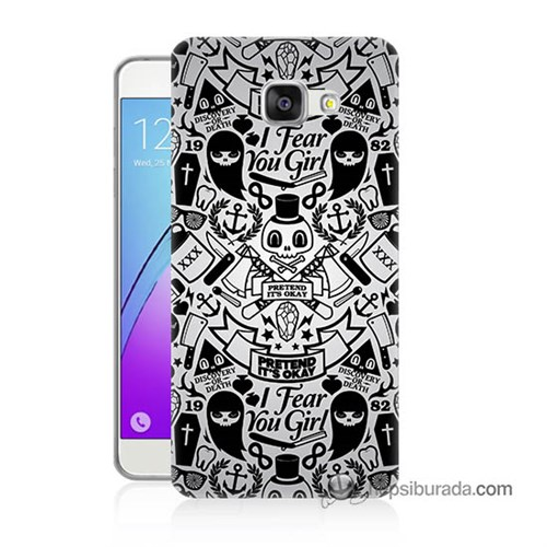 Teknomeg Samsung Galaxy A7 2016 Kılıf Kapak Karikatür Baskılı Silikon