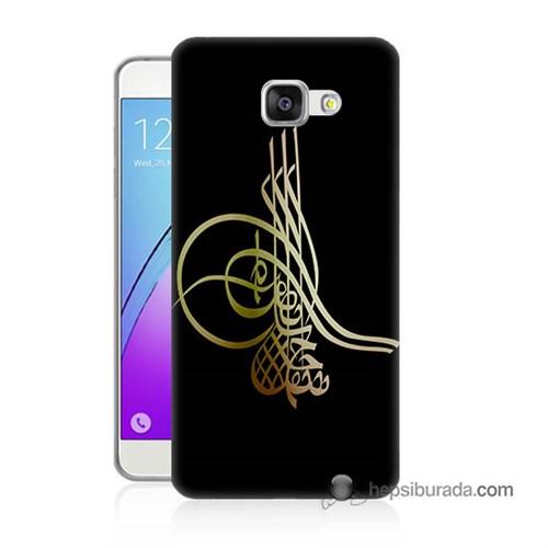 Teknomeg Samsung Galaxy A7 2016 Kılıf Kapak Tuğra Osmanlı Baskılı Silikon