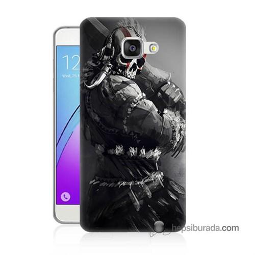 Teknomeg Samsung Galaxy A7 2016 Kılıf Kapak Tribal Warrior Baskılı Silikon