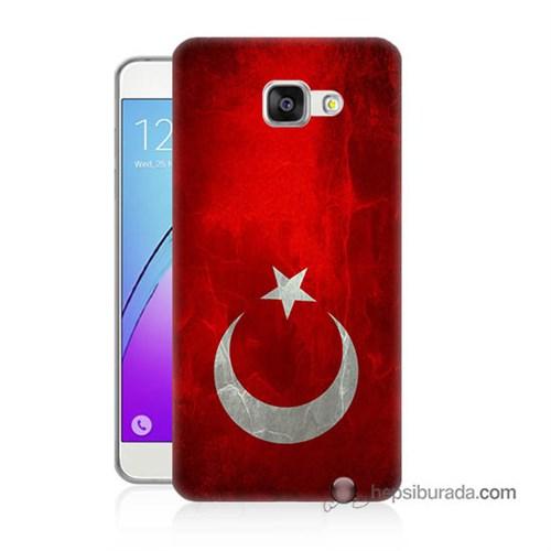 Teknomeg Samsung Galaxy A7 2016 Kılıf Kapak Türkiye Bayrağı Baskılı Silikon