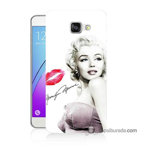 Teknomeg Samsung Galaxy A7 2016 Kapak Kılıf Marilyn Monroe Baskılı Silikon