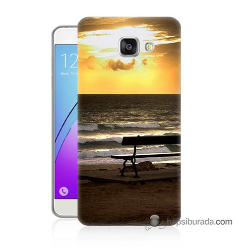 Teknomeg Samsung Galaxy A7 2016 Kılıf Kapak Gün Batımı Baskılı Silikon
