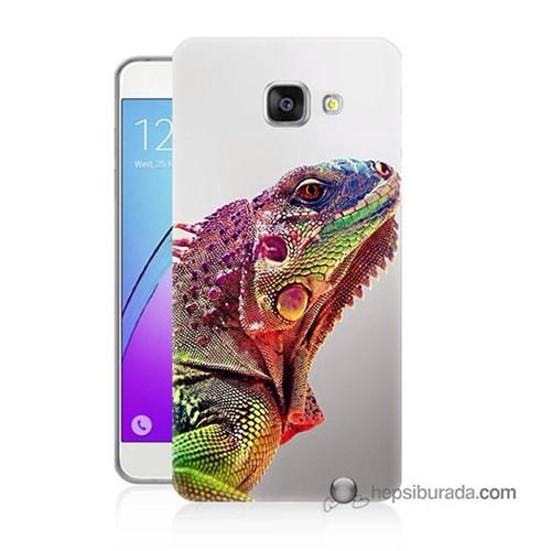 Teknomeg Samsung Galaxy A7 2016 Kapak Kılıf İguana Baskılı Silikon