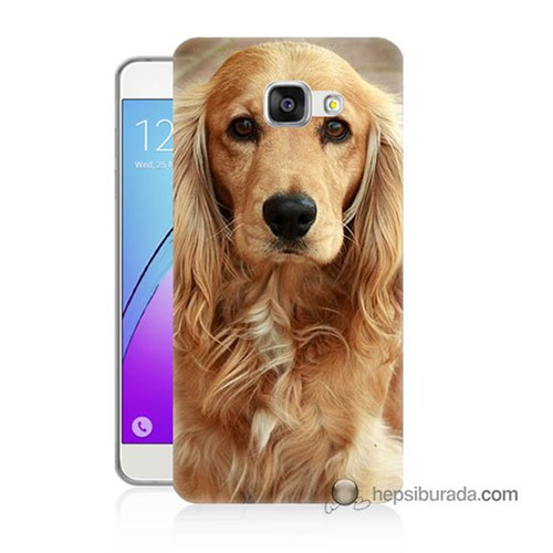 Teknomeg Samsung Galaxy A7 2016 Kapak Kılıf Köpek Baskılı Silikon
