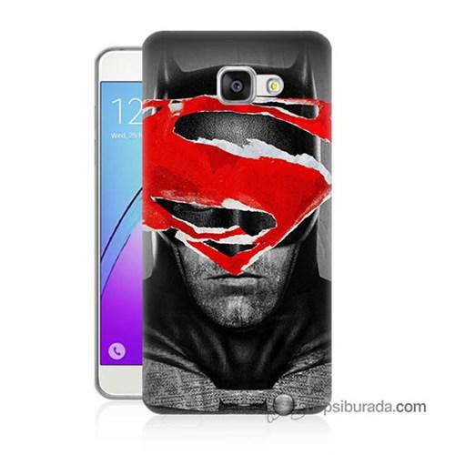 Teknomeg Samsung Galaxy A7 2016 Kapak Kılıf Batman Vs Superman Baskılı Silikon