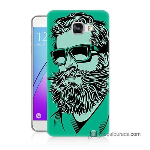 Teknomeg Samsung Galaxy A7 2016 Kılıf Kapak Beard Art Baskılı Silikon