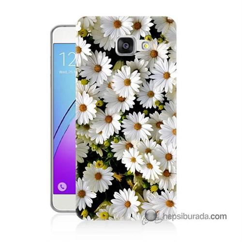 Teknomeg Samsung Galaxy A7 2016 Kılıf Kapak Papatyalar Baskılı Silikon