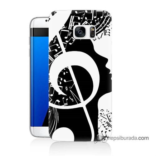 Teknomeg Samsung Galaxy S7 Edge Kapak Kılıf Notalar Baskılı Silikon