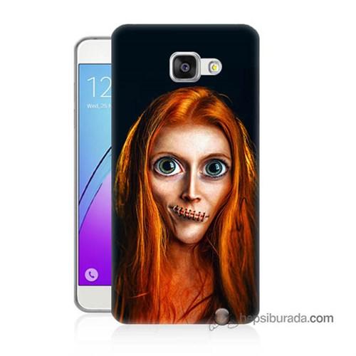 Teknomeg Samsung Galaxy A7 2016 Kılıf Kapak Zombie Kız Baskılı Silikon