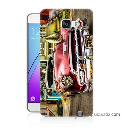 Teknomeg Samsung Galaxy A7 2016 Kapak Kılıf Klasik Araba Baskılı Silikon