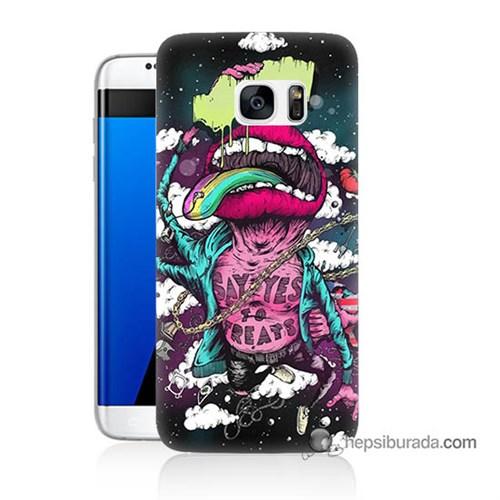 Teknomeg Samsung Galaxy S7 Edge Kapak Kılıf Roling Stones Baskılı Silikon