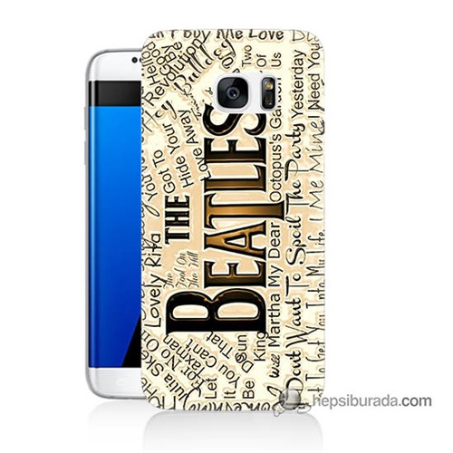 Teknomeg Samsung Galaxy S7 Edge Kılıf Kapak The Beatles Baskılı Silikon