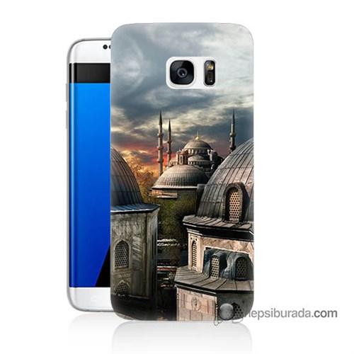 Teknomeg Samsung Galaxy S7 Edge Kapak Kılıf Cami Baskılı Silikon