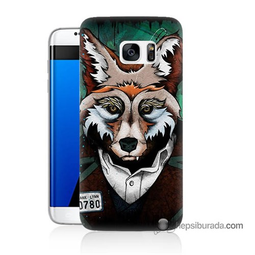 Teknomeg Samsung Galaxy S7 Edge Kılıf Kapak Bad Wolf Baskılı Silikon