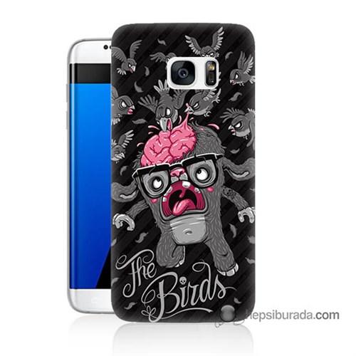 Teknomeg Samsung Galaxy S7 Edge Kılıf Kapak The Birds Baskılı Silikon