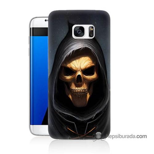 Teknomeg Samsung Galaxy S7 Edge Kılıf Kapak Ölüm Meleği Baskılı Silikon