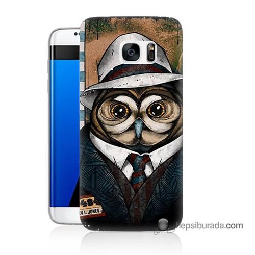 Teknomeg Samsung Galaxy S7 Edge Kapak Kılıf Crazy Jones Baskılı Silikon