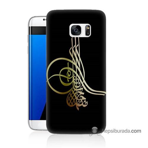 Teknomeg Samsung Galaxy S7 Edge Kılıf Kapak Tuğra Osmanlı Baskılı Silikon