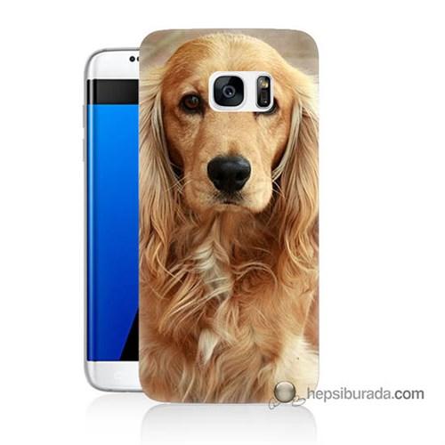 Teknomeg Samsung Galaxy S7 Edge Kapak Kılıf Köpek Baskılı Silikon