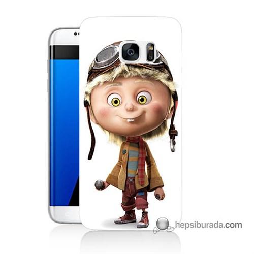 Teknomeg Samsung Galaxy S7 Edge Kılıf Kapak Çizgi Karakter Baskılı Silikon