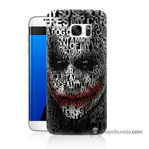 Teknomeg Samsung Galaxy S7 Edge Kapak Kılıf Joker Baskılı Silikon