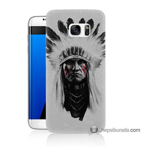 Teknomeg Samsung Galaxy S7 Edge Kılıf Kapak Geronimo Baskılı Silikon