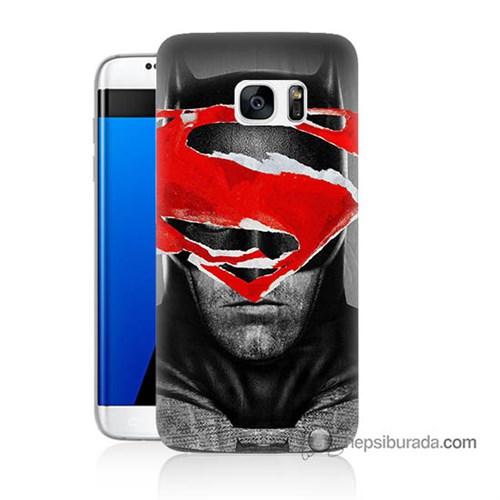 Teknomeg Samsung Galaxy S7 Edge Kapak Kılıf Batman Vs Superman Baskılı Silikon