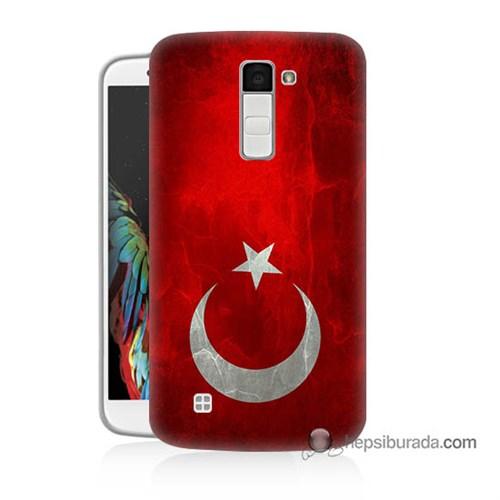 Teknomeg Lg K10 Kılıf Kapak Türkiye Bayrağı Baskılı Silikon
